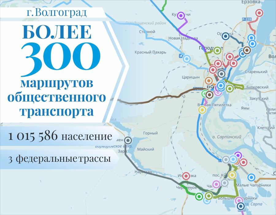 Карта города Волгограда